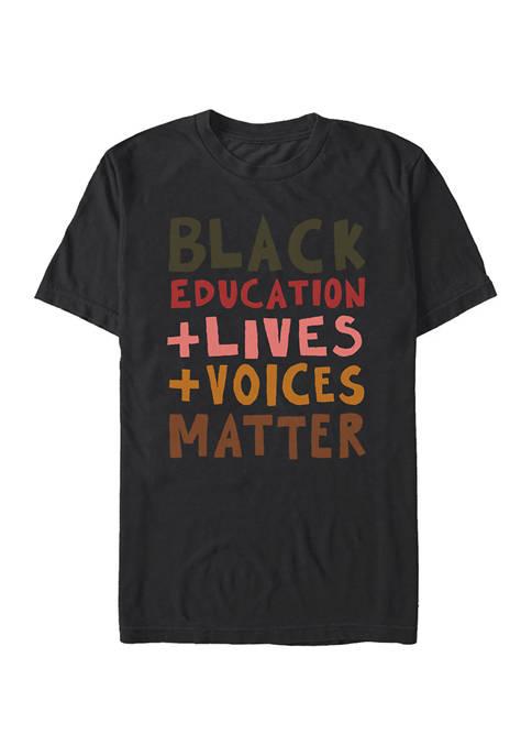 Black Lives Short Sleeve Graphic T-Shirt - Black