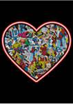 Comic Heart Graphic T-Shirt