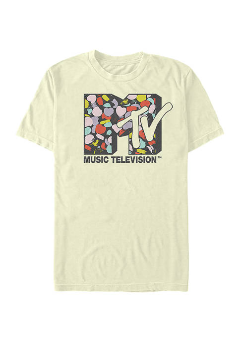 MTV Logo Heart Fill Graphic T-Shirt