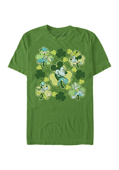 Classic Mickey Friends Clovers Graphic T-Shirt