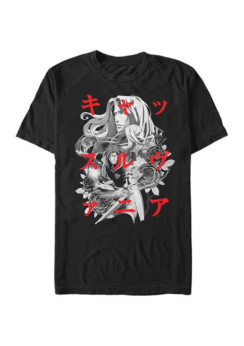 Castlevania Kanji Group Graphic T-Shirt