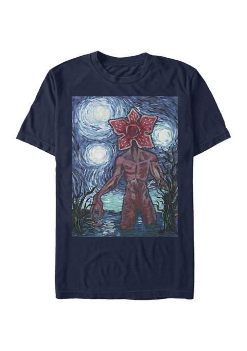 Stranger Things Starry Demogorgon Graphic T-Shirt
