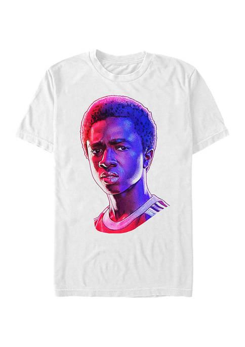 Stranger Things Lucas Big Face Graphic T-Shirt