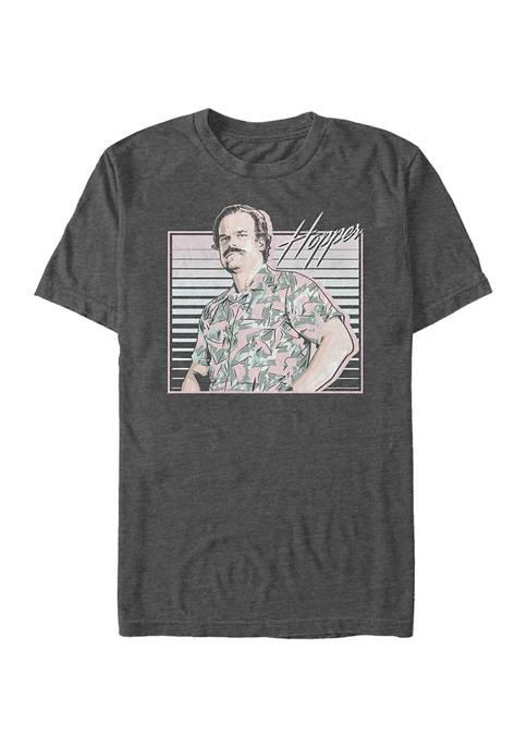 Stranger Things Hawaiian Hopper Graphic T-Shirt