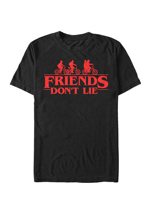 Stranger Things Friends Dont Lie Graphic T-Shirt