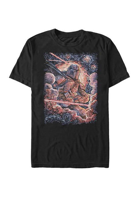 Star Wars The Mandalorian Mando Painted Starries T-Shirt