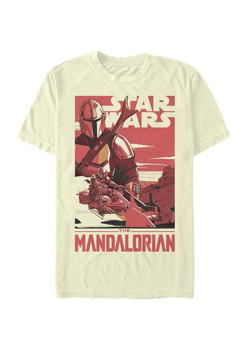 Star Wars The Mandalorian Mad Mando Poster Graphic T-Shirt