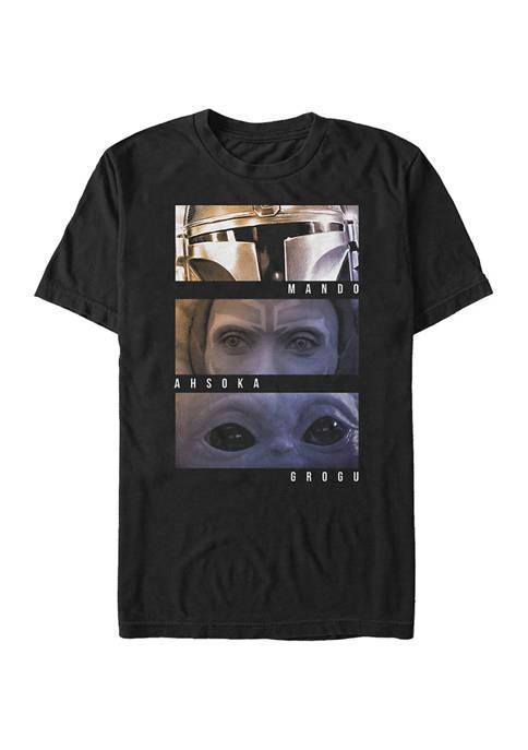 Star Wars The Mandalorian Character Eyes Graphic T-Shirt