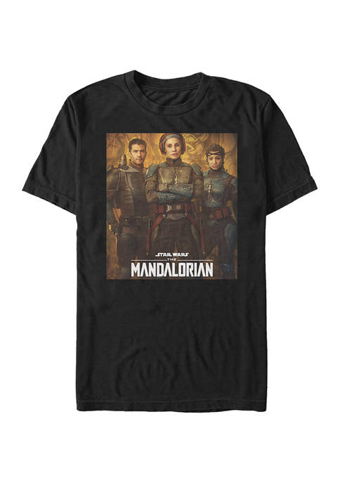 Star Wars The Mandalorian Blue Mandalorian Poster Graphic