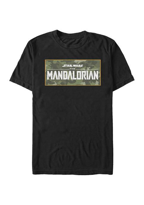 Star Wars The Mandalorian Mando Camo Logo Graphic