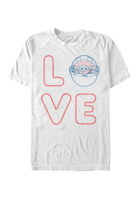 Star Wars The Mandalorian Love Stacked Graphic T-Shirt