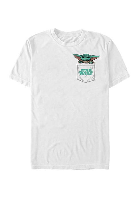 Star Wars The Mandalorian Baby Faux Pocket Graphic T-Shirt