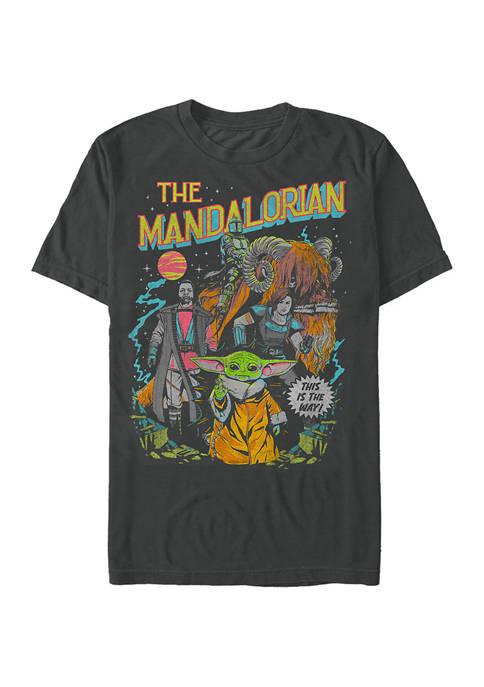Star Wars The Mandalorian Poster Graphic T-Shirt