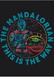 Star Wars® The Mandalorian Rainbow Mando Graphic T-Shirt