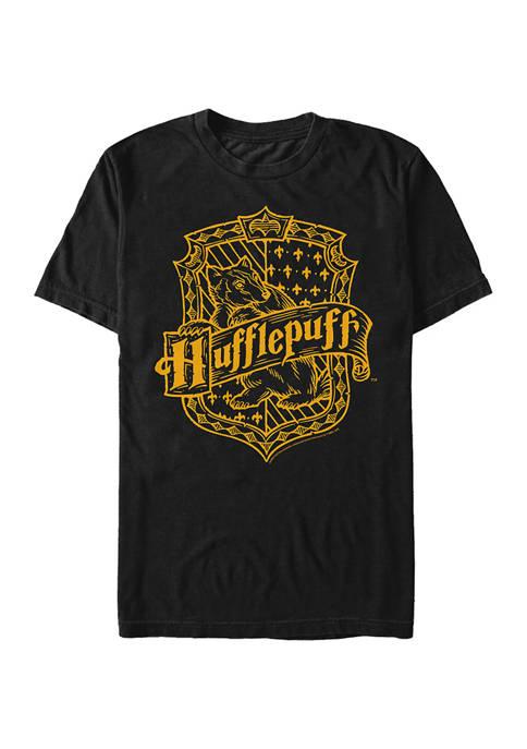 Harry Potter Hufflepuff Crest Graphic T-Shirt