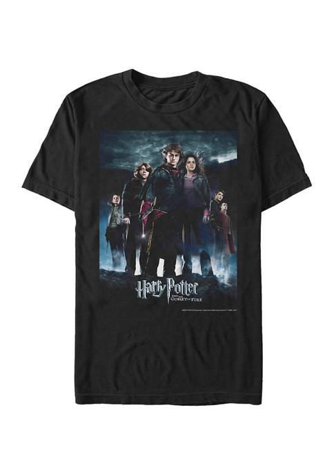 Harry Potter Potter Goblet Group Poster Graphic T-Shirt