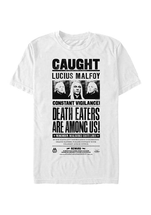 Harry Potter Lucius Newspaper Graphic T-Shirt