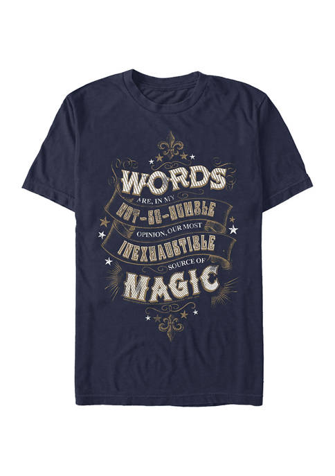 Harry Potter Humble Words Graphic T-Shirt