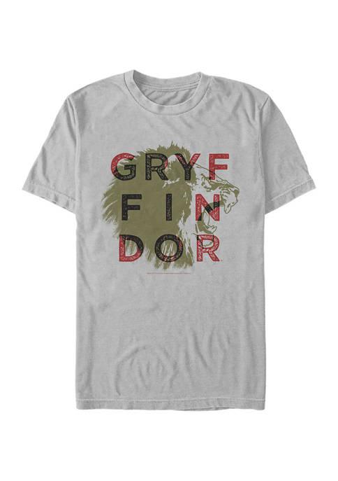 Harry Potter Gryffindor Overprint Graphic T-Shirt