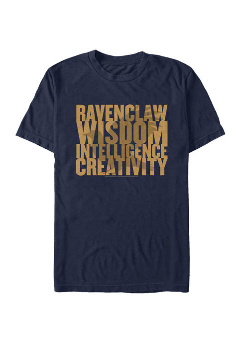 Harry Potter Ravenclaw House Words Graphic T-Shirt