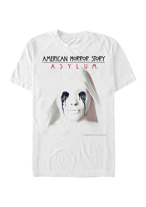 American Horror Story White Asylum Short Sleeve Graphic T-Shirt
