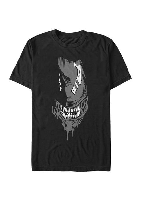 Alien Big Face Short Sleeve Graphic T-Shirt