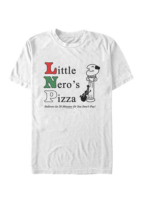 Home Alone Little Neros Pizza Short Sleeve Graphic