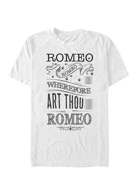 Romeo & Juliet Where Art Thou Short Sleeve Graphic T-Shirt