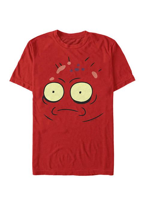 Solar Opposites Red Goobler Big Face Short Sleeve Graphic T-Shirt