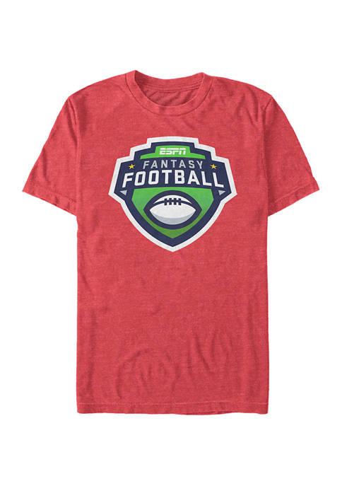 ESPN Fantasy Football Logo Short Sleeve Graphic T-Shirt