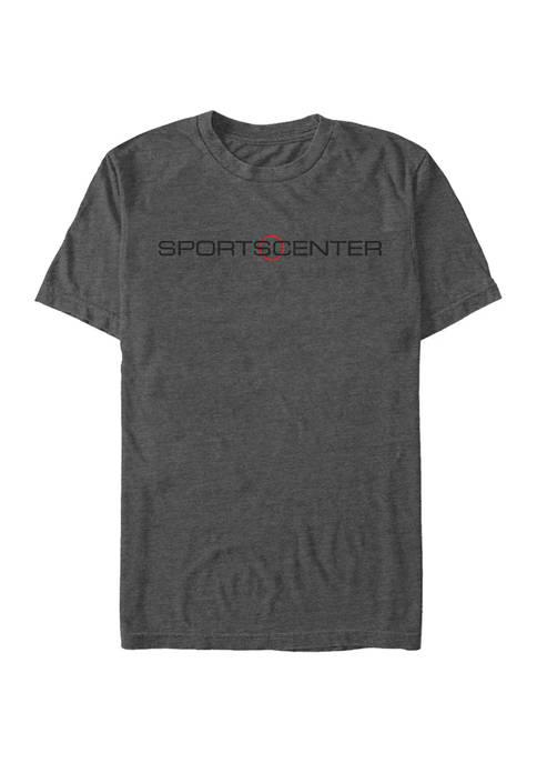 ESPN SportsCenter Horizontal Short Sleeve Graphic T-Shirt