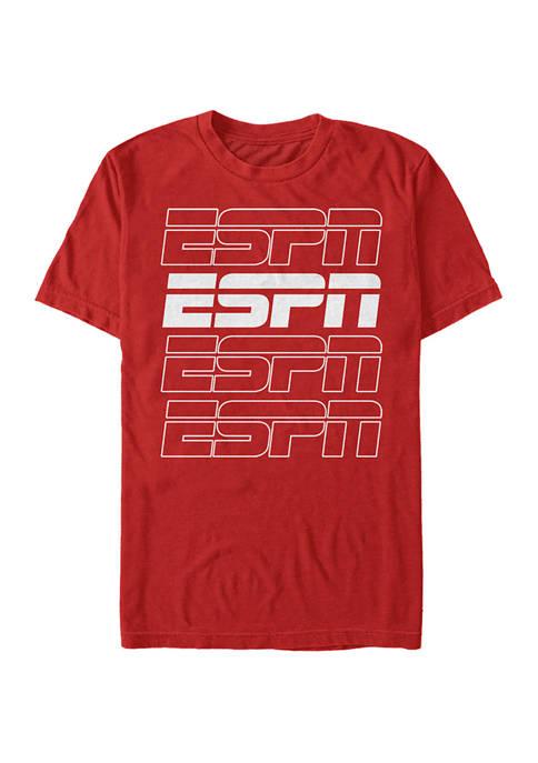 ESPN Stroke Stack Short Sleeve Crew Graphic T-Shirt