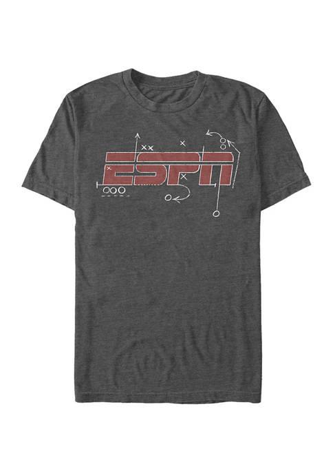 ESPN Play Book Logo Short Sleeve Graphic T-Shirt