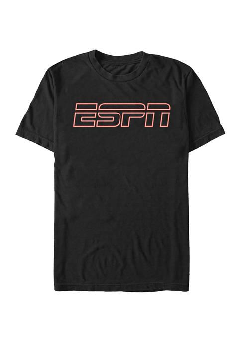 ESPN Neon Logo Short Sleeve Graphic T-Shirt