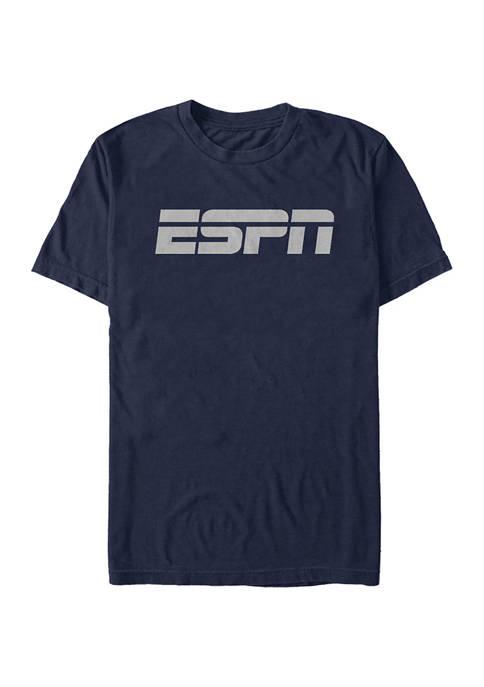 ESPN Black Logo Short Sleeve Graphic T-Shirt