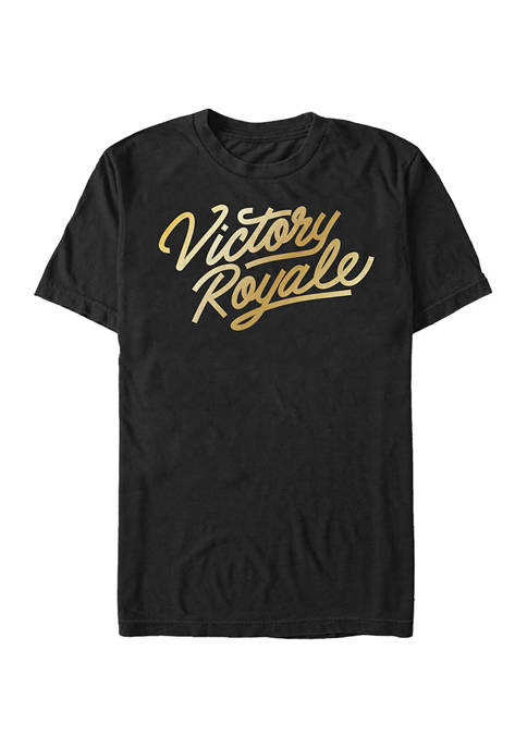 Fortnite Victory Script Logo Short Sleeve Graphic T-Shirt