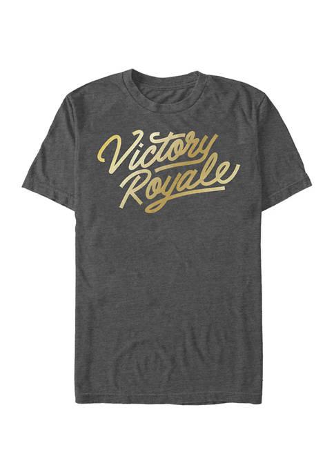 Fortnite Victory Script Logo Short Sleeve Graphic T-Shirt