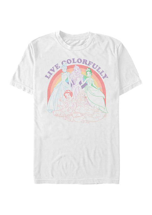 Disney® Princess Rainbow Princess Short Sleeve Graphic T-Shirt