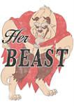 Disney Princess Her Beast Short Sleeve Graphic T-Shirt