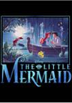 Disney Princess Little Mermaid Title Short Sleeve Graphic T-Shirt