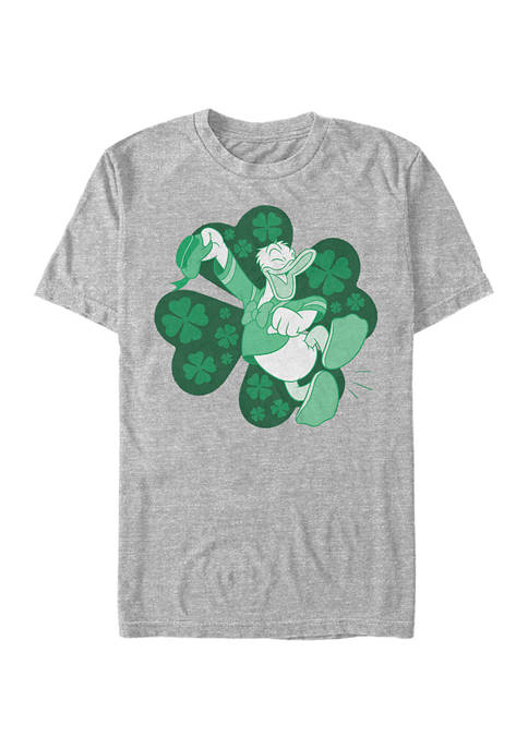 Mickey Classic Lucky Duck Donald Graphic Short Sleeve T-Shirt