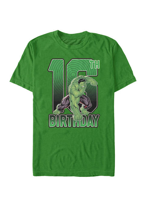 Marvel Hulk 16th Birthday Graphic Short Sleeve T-Shirt