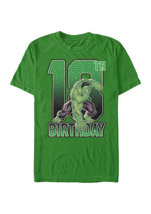 Marvel Hulk 18th Birthday Graphic Short Sleeve T-Shirt