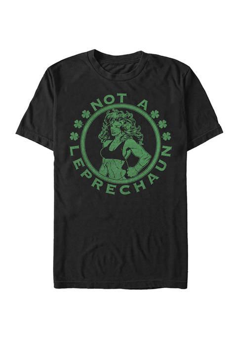 Short Sleeve  She Hulk Leprechaun Graphic T-Shirt