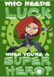 Marvel Super Widow Luck Graphic Short Sleeve T-Shirt