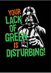 Star Wars Lack of Green Graphic Short Sleeve T-Shirt