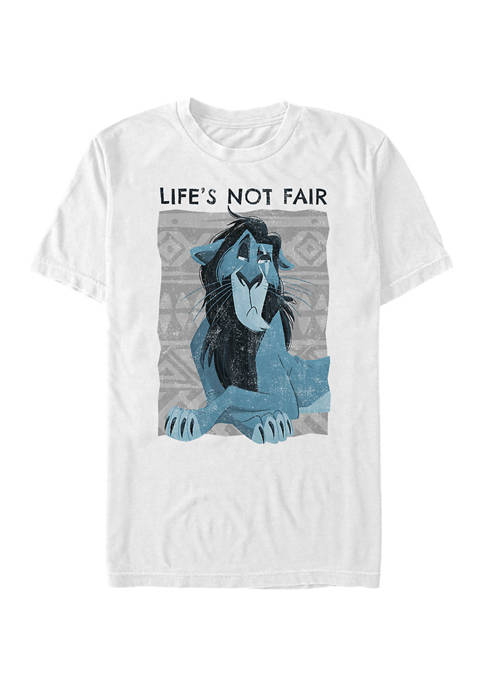 Lion King Scar Not Fair Short Sleeve Graphic T-Shirt