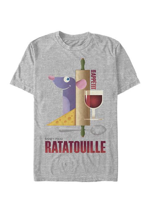 Ratatouille Bon Appetit Poster Short Sleeve Graphic T-Shirt