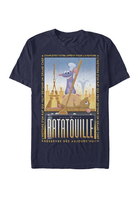 Ratatouille Un Grand Chef Poster Short Sleeve Graphic T-Shirt