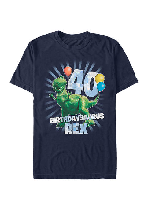 Toy Story Balloon Rex 40 Short Sleeve Graphic T-Shirt